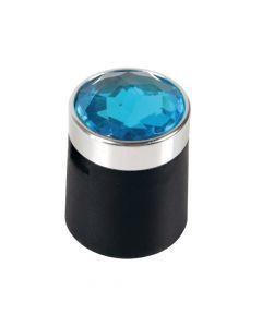 Colour Crystal, 20 copribulloni - Ø 17 mm - Blu
