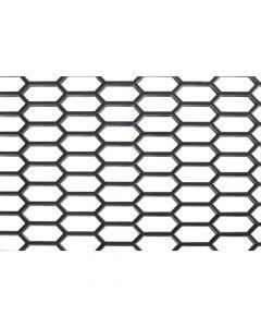 Original-Look, griglia aerazione in PP - Esagono largo 15x35 mm - 120x40 cm - Nero