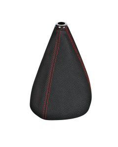 Premium Sport, cuffia leva cambio in pelle perforata - Nero/Rosso