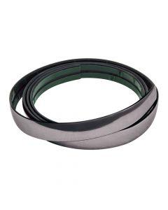 Profilo adesivo cromato nero - 25 m - 9 mm