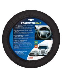 Protector 2 in 1, coprivolante elasticizzato - Nero