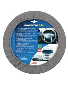 Protector 2 in 1, coprivolante elasticizzato - Grigio