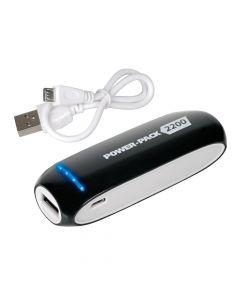 POWER BANK 2200mAh USB BATTERIA ESTERNA UNIVERSALE LED CON PROTEZIONE