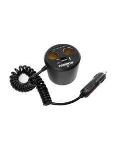 Power cup 2, multipresa con Usb e tester batteria, 12V