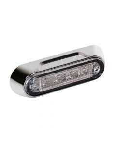 Premium, luce a 4 led, montaggio superficie, 12/24V - Bianco