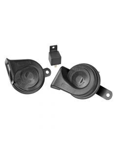 Avvisatore acustico bitonale, Ø 85 mm - 12V