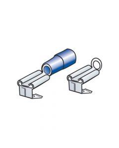 Kit 40 terminali-capicorda piatti a doppio innesto - Blu