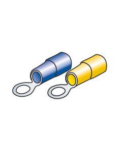 Kit 40 terminali-capicorda ad anello - Giallo/Blu