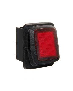 Interruttore impermeabile con spia a Led - 12/24V - Rosso
