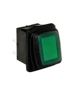 Interruttore impermeabile con spia a Led - 12/24V - Verde