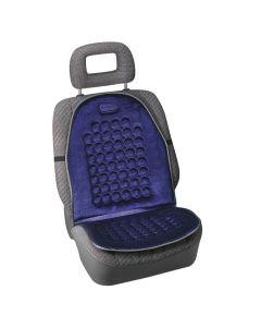 Massage-Velluto, schienale magnetico massaggiante in velluto - Blu