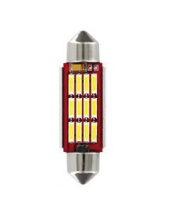 10-30V Mega-Led 12 - 12 SMD x 1 chip - 12x41 mm - SV8,5-8 - 1 pz  - D/Blister - Bianco - Doppia polarità - Resistenza incorporata