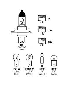 Kit lampade di ricambio 8 pz, alogena H4 - 12V