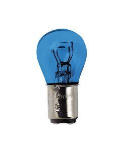 12V Blue Dyed Glass, Lampada 2 filamenti  - (P21/5W) - 21/5W - BAY15d - 2 pz  - D/Blister