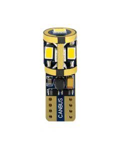 10-32V Mega-Led 9 -  9 SMD x 1 chip - (T10) - W2,1x9,5d - 2 pz  - D/Blister - Bianco - Doppia polarità - Resistenza incorporata