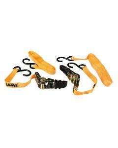 """Pro-Safe, set 2 nastri tensori con cricchetto a doppio gancio """"S"""" - 500 cm"""