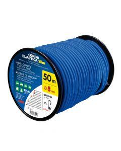 Corda elastica in bobina, blu - Ø 8 mm - 50 m