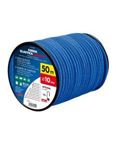 Corda elastica in bobina, blu - Ø 10 mm - 50 m