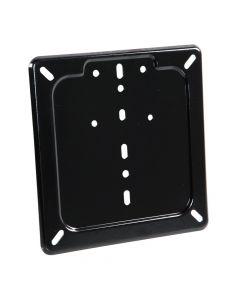 Porta targa in acciaio inox - Nero