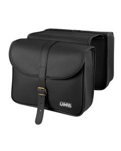 Vintage, borsa portapacchi a bisaccia - 7 L - Nero