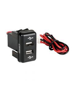 Original-Fit, doppia presa USB, 12/24V - Volvo