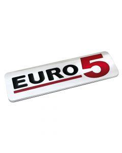 Emblema Antinquinamento 3D cromato - 170x50 mm - Euro 5