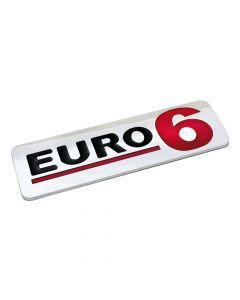 Emblema Antinquinamento 3D cromato - 170x50 mm - Euro 6