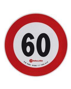 Contrassegno limite velocità - 60 Km/h