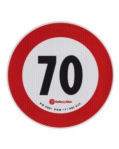 Contrassegno limite velocità - 70 Km/h