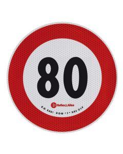 Contrassegno limite velocità - 80 Km/h