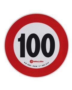 Contrassegno limite velocità - 100 Km/h