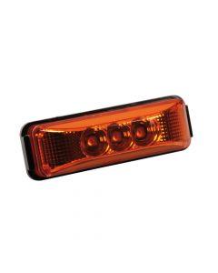 Luce ingombro a 3 Led, 24V - Arancio
