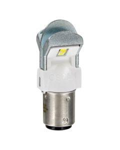 Coppia Lampada Luce LED Bianco 12V P21/5W OSRAM - BAY15d