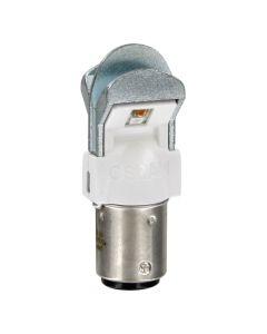 Coppia Lampada Luce LED Rosso 12V P21/5W OSRAM - BAY15d